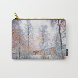 Winter in Norwegian Woods Carry-All Pouch