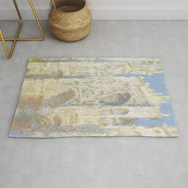 Rouen Cathedral West Facade Sunlight Rug