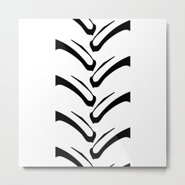 Tractor Tread Pattern Metal Print