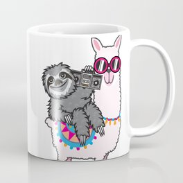Sloth Music Llama Coffee Mug
