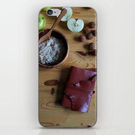 Book and oatmeal iPhone Skin
