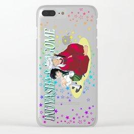 Inuyasha & Kagome Clear iPhone Case