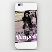 liverpool iPhone & iPod Skins featuring LIVERPOOL by TOO MANY GRAPHIX