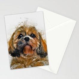 Shih Tzu Art Stationery Cards