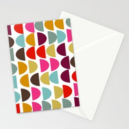 Geometric in Bright Fall Colors Stationery Cards