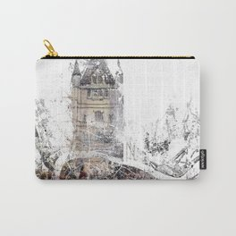 London map - Tower Bridge painting Carry-All Pouch