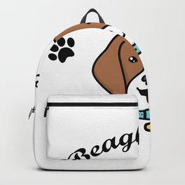 Beagle Dad Funny Love Dog Pet Gift Backpack