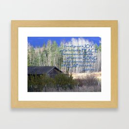 All Nature Sings Framed Art Print