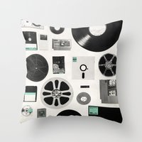 data Throw Pillows featuring Data by Florent Bodart / Speakerine
