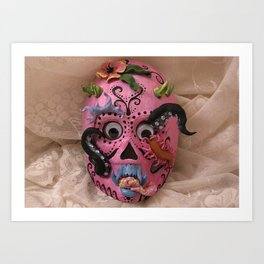 hurricane mask Art Print