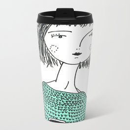 Coffee and Sweaters Metal Travel Mug