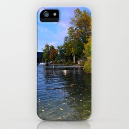Autumn Arrives at the Lake iPhone Case