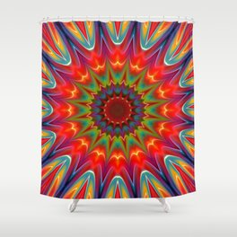 Colors kaleidoscope pattern Shower Curtain