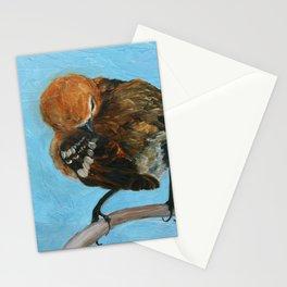 Preening 'Elepaio, endemic Hawaiian bird Stationery Cards