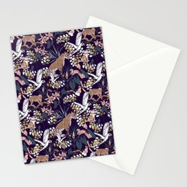 Night in the jungle Stationery Cards