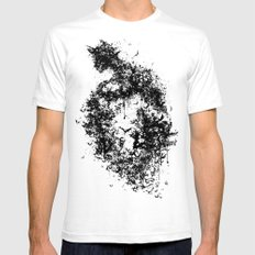 A Dark Cave X-LARGE White Mens Fitted Tee