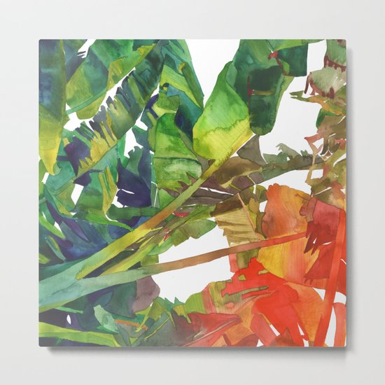 Bananas leaves Metal Print