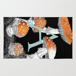 A is for Amanita muscaria Rug