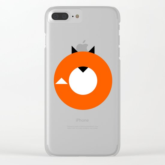 A Most Minimalist Fox Clear iPhone Case
