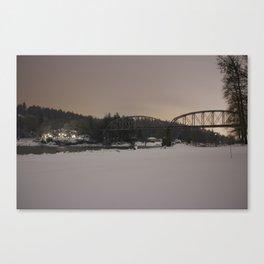 Winter Snow Night Canvas Print