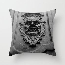 Face Door Throw Pillow