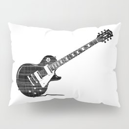 Black Guitar Pillow Sham