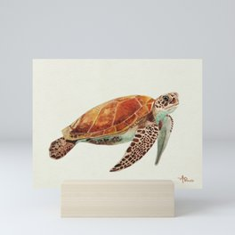 Turtle Watercolor Mini Art Print