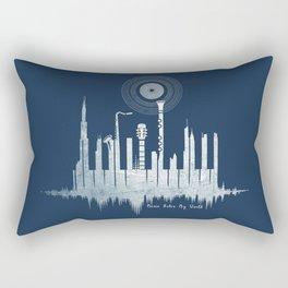 Music Rules My World Rectangular Pillow