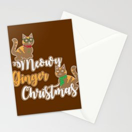 Meowy Ginger Christmas Stationery Cards