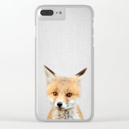 Baby Fox - Colorful Clear iPhone Case
