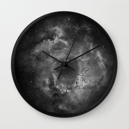 Stars and Space Dust B&W Wall Clock