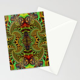 Psychedelic Fractal Geometry - different perspective Stationery Cards