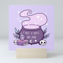 Witch Cauldron // Purple Mini Art Print