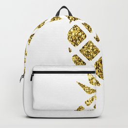 Colorful Pineapples Gold Backpack
