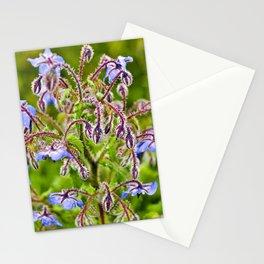 Wild Blue Borage Stationery Cards
