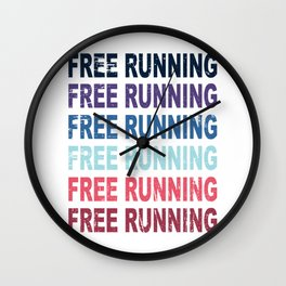 Free Running Parkour Sports Gift Wall Clock