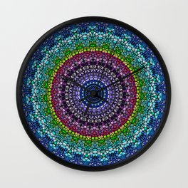 Magical Gems Kaleidoscope Wall Clock
