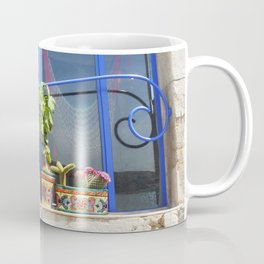 A window in Cadaques Coffee Mug