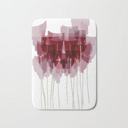 Dark Red Goblet Flower Bunch Bath Mat