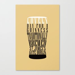 Typographical Guinness Canvas Print