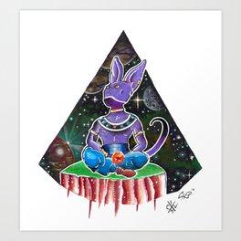 Beerus in space Art Print