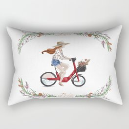 L'été à vélo Rectangular Pillow