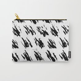 Polka Splotch Black Ink on Paper Carry-All Pouch