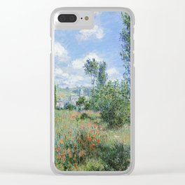 View of Vetheuil by Claude Monet, 1880 Clear iPhone Case
