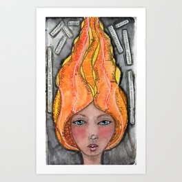 She's A Candle Art Print