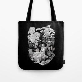 Hispanic Legend La Llorona (black and white) Tote Bag