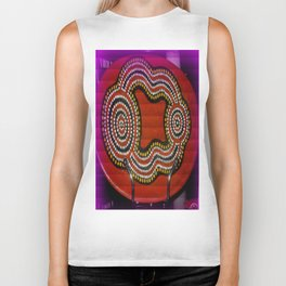Aboriginal Art Biker Tank