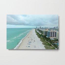 Above Miami Beach Metal Print
