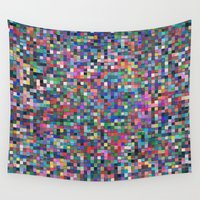 stained glass Wall Tapestries featuring stained glass by spinL