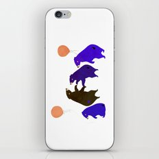 A sleepy bear party iPhone & iPod Skin